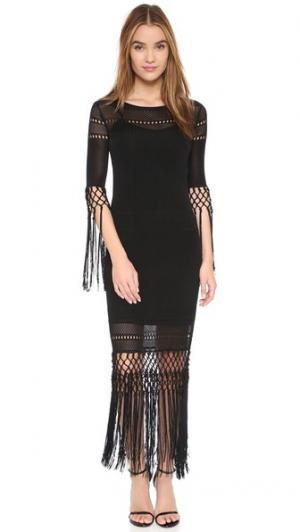 Макси-платье Dane с кисточками Rachel Zoe. Цвет: голубой