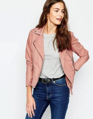 Muubaa Розовая байкерская куртка Holmedale. Цвет: розовый