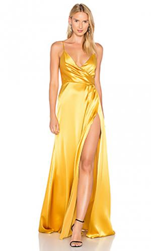 Вечернее платье с запахом JILL STUART. Цвет: металлический золотой