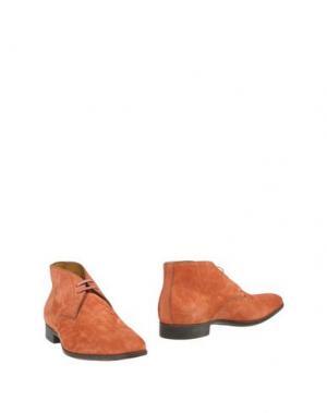 Полусапоги и высокие ботинки SANTONI. Цвет: ржаво-коричневый