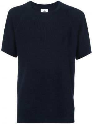 Трикотажная футболка Adidas X Wings + Horns. Цвет: серый