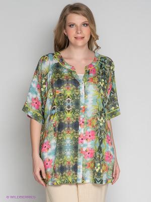 Блузка ARDATEX. Цвет: зеленый, голубой, коралловый