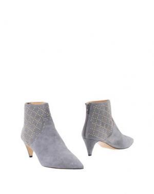 Полусапоги и высокие ботинки BIONDA CASTANA. Цвет: серый