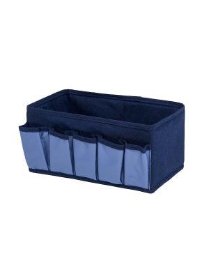 Коробочка для косметики и мелочей Blue sky Homsu. Цвет: синий