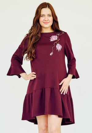 Платье Мама Мила. Цвет: бордовый