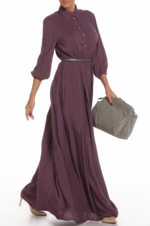 Платье строгое Alina Assi. Цвет: сливовый