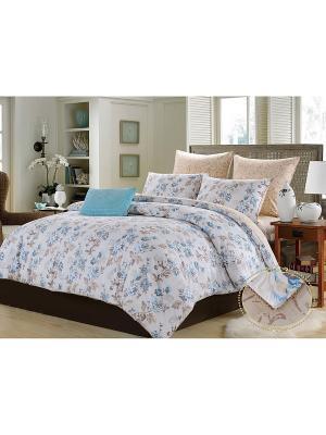 Комплект постельного белья, Аделина, Семейный KAZANOV.A.. Цвет: голубой