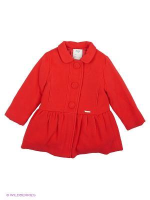 Пальто Mayoral. Цвет: красный
