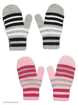 Варежки FOMAS. Цвет: розовый, черный, светло-серый, малиновый