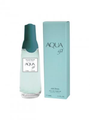 Парфюмерная вода Ascania  Aqua gi women 50 ml. Цвет: голубой