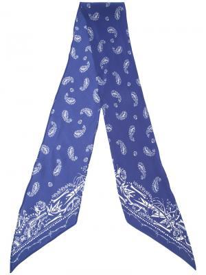 Guns n  printed skinny scarf Rockins. Цвет: синий
