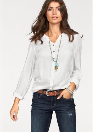 Блузка BOYSENS BOYSEN'S. Цвет: цвет белой шерсти