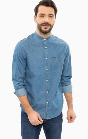 Джинсовая рубашка с длинными рукавами Lee. Цвет: синий