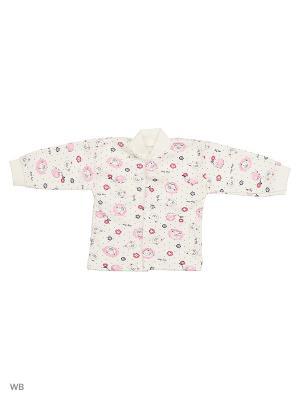 Кофточка Babycollection. Цвет: молочный, розовый
