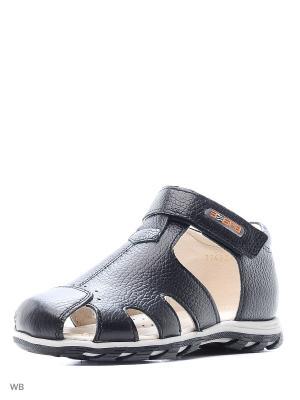 Туфли открытые Зебра. Цвет: черный