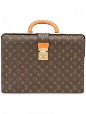 Портфель с принтом-логотипом Louis Vuitton Vintage. Цвет: коричневый