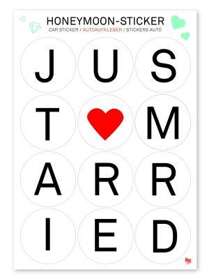 Стикеры на машину Honeymoon-Sticker Donkey. Цвет: черный, белый, красный