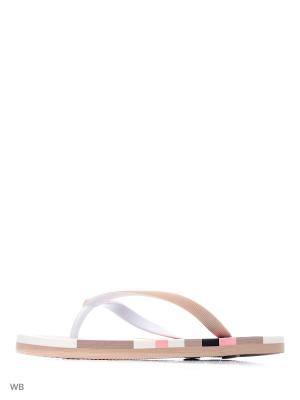 Шлепанцы Noos Icon. Цвет: бежевый, белый, розовый
