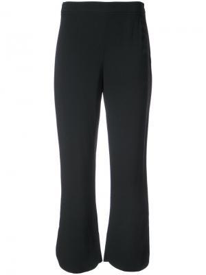 Укороченные брюки клеш Prada. Цвет: чёрный