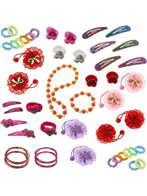 Набор аксессуаров для волос BLAGOY ART. Цвет: синий, белый, голубой, красный, розовый, салатовый, светло-желтый