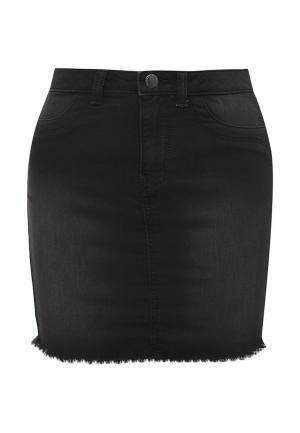 Юбка джинсовая Jacqueline de Yong. Цвет: черный