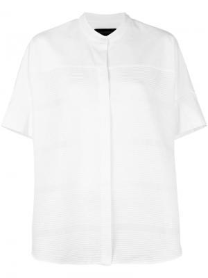 Рубашка с короткими рукавами Piazza Sempione. Цвет: белый