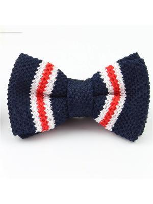 Галстук-бабочка Churchill accessories. Цвет: синий, красный