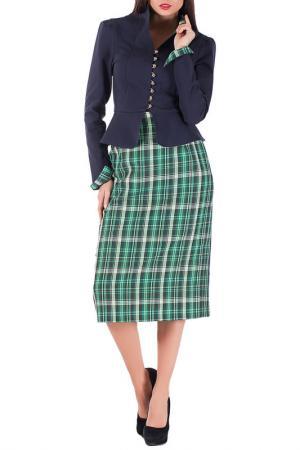 Комплект с юбкой Mannon. Цвет: зелено-серый