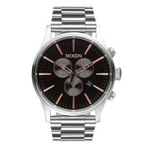 Часы  Sentry Chrono Gray/Rose Gold Nixon. Цвет: серый,черный
