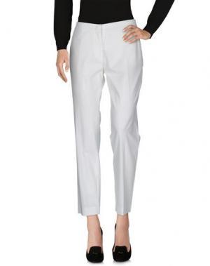 Повседневные брюки LORENA ANTONIAZZI. Цвет: белый