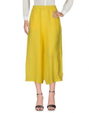 Повседневные брюки CORINNA CAON. Цвет: желтый