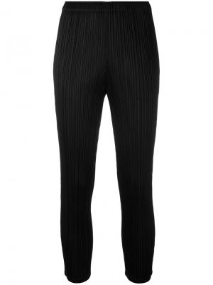 Pleated skinny trousers Pleats Please By Issey Miyake. Цвет: чёрный