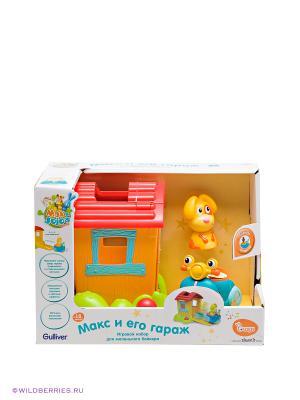 Игровый набор Макс - гараж OUAPS. Цвет: желтый, голубой, оранжевый