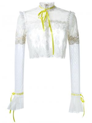 Кружевная блузка DressCamp. Цвет: белый