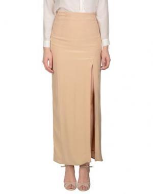Длинная юбка LIST. Цвет: верблюжий