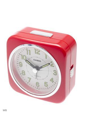 Часы настольные CASIO. Цвет: красный