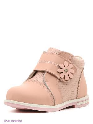 Ботинки Зебра. Цвет: персиковый
