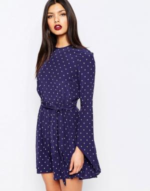 Bec & Bridge Платье мини Nightingale. Цвет: синий