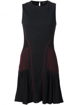 Платье с контрастным деталями Atlein. Цвет: чёрный