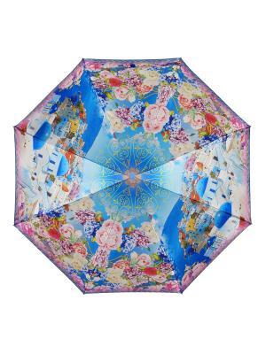Зонт DINIYA. Цвет: лазурный, розовый