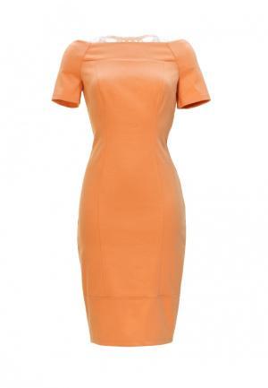 Платье Ано. Цвет: оранжевый