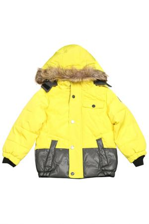Куртка с застежкой на молнию и кнопки Versace 19.69. Цвет: yellow