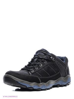 Спортивные ботинки ECCO. Цвет: черный, синий
