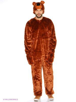 МЕДВЕДЬ, Карнавальный костюм Волшебный мир. Цвет: коричневый