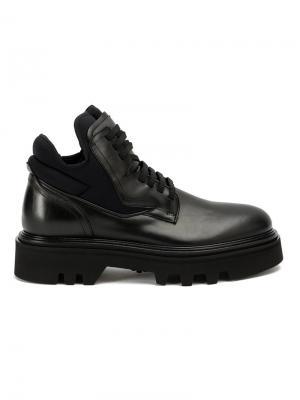 Ботинки с панельным дизайном Bruno Bordese. Цвет: чёрный