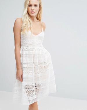 Little White Lies Платье Impala. Цвет: белый