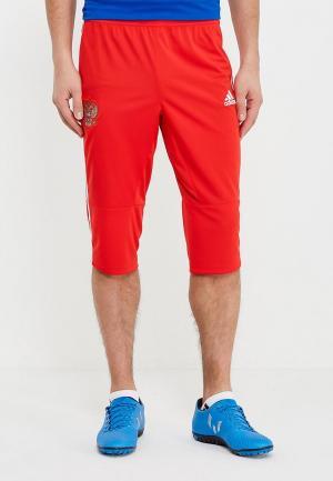 Бриджи adidas. Цвет: красный