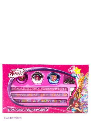 Набор для творчества  браслеты с фотографией Winx, браслеты, рамки, подвески Multiart. Цвет: розовый