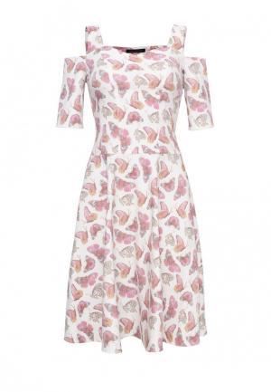 Платье джинсовое Lucky Move. Цвет: розовый