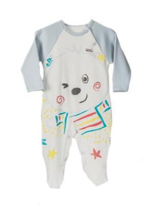 Комбинезон для малышей WO&GO. Цвет: белый, голубой
